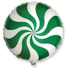 F Мини-круг, Леденец, карамель, конфета, Зеленый, 9''/23 см, 5 шт.
