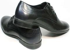 Строгие туфли туфли со шнурками мужские Ikos 3416-4 Dark Blue.