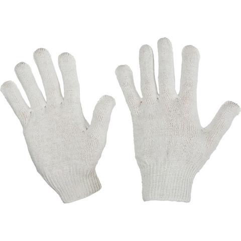 Перчатки рабочие трикотажные без ПВХ 4 нити 10 класс 30 г (10 пар в упаковке)