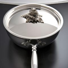 Вок 24см (4,0л), крышка с посеребренной декорированной ручкой, RUFFONI Opus Prima арт. B24 Ruffoni RUFFONI