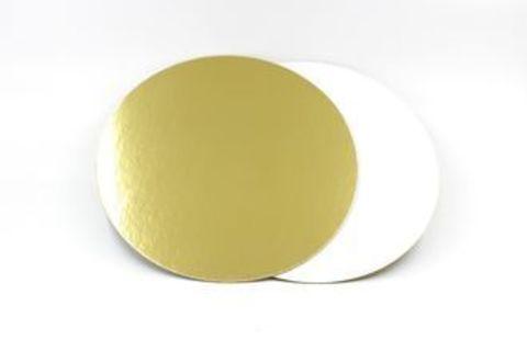 Подложка усиленная двухсторонняя, 1,5 мм (золото/жемчуг), диаметр 16 см