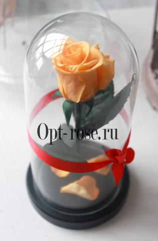 роза в колбе жёлтая 22*11*5 см