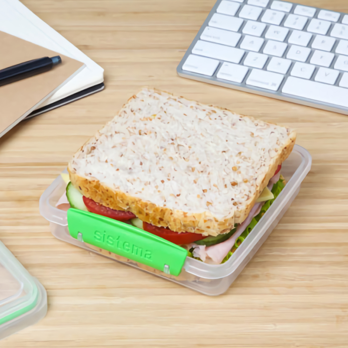 """Контейнер для сэндвичей Sistema """"TO GO"""" 450 мл, цвет Зеленый"""