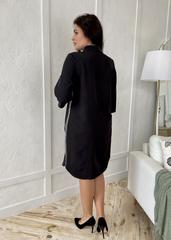 Дарина. Стильна сукня-сорочка плюс сайз. Чорний