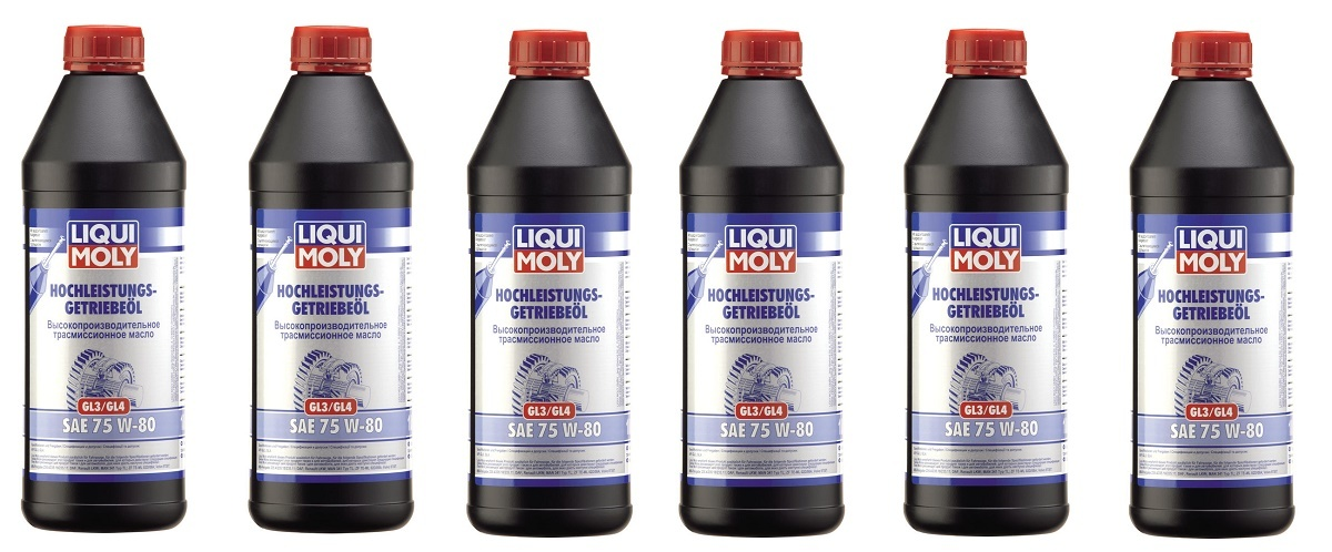 Liqui Moly GL3/GL4 75W80 НС-синтетическое трансмиссионное масло