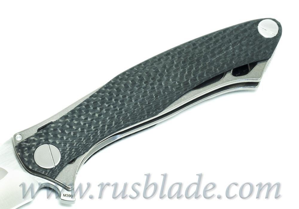 CKF Trekoza Carbon Fiber double inlay Knife Limited - фотография
