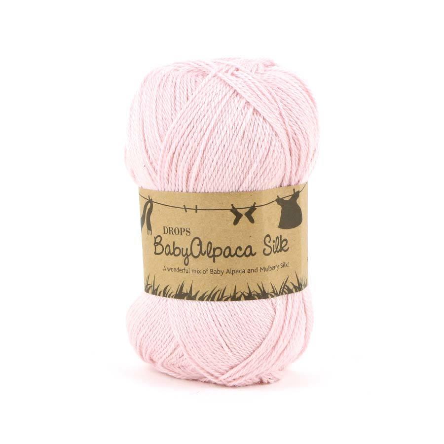 Пряжа Drops Baby Alpaca Silk 3125 нежно-розовый