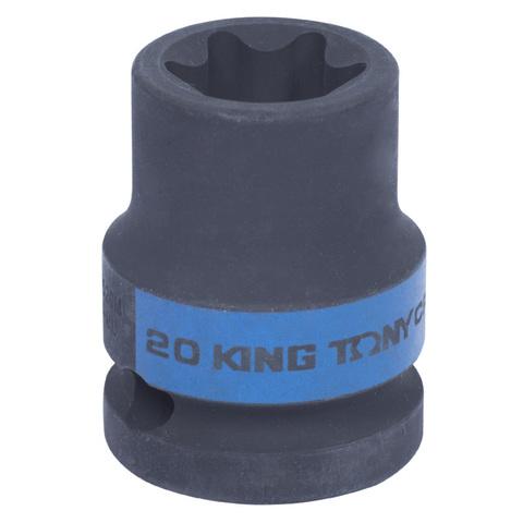 KING TONY (457520M) Головка торцевая ударная TORX Е-стандарт 1/2