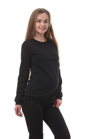 Свитшот для беременных и кормящих 10509 черный