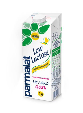 """Молоко """"Parmalat"""" ультрапастеризованное безлактозное 0,05% 1л"""