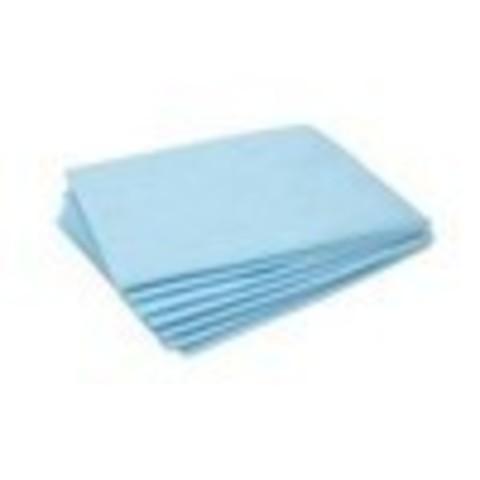 Простынь 80х200, голубая, инд. сложение, 18 г/м2 (50 шт)