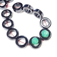 Бусины гематит кольцо 12 мм цвет черный