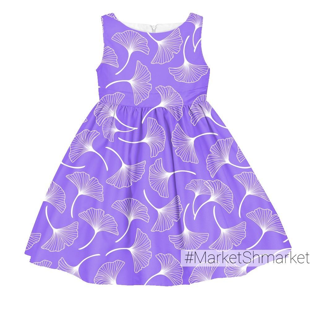 Листья гингко на фиолетовом