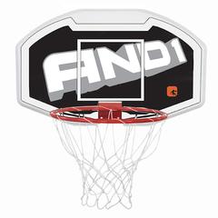 Щит с кольцом и сеткой Basketball Backboard 110cm