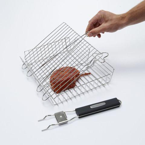 Корзина для гриля со съемной ручкой