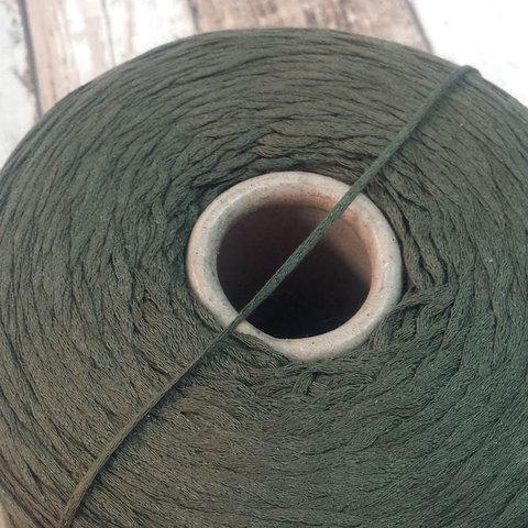 Хлопок 100% шнурок CASA DELL FILATO зеленый защитный