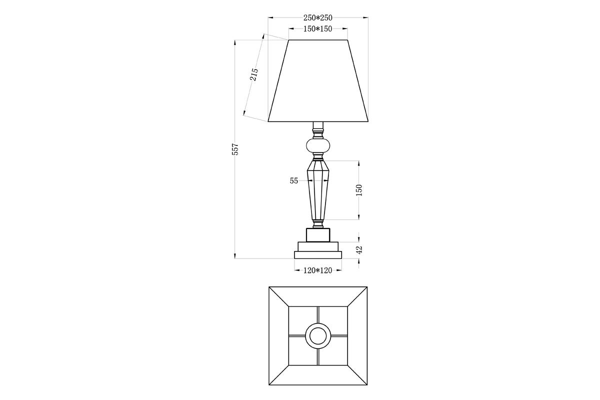 22-86639TL Лампа настольная плафон кремовый d25*60 (2)
