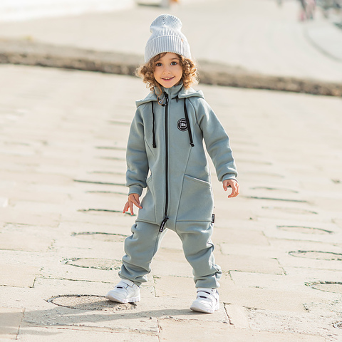 Transformer jumpsuit with flap - Gray