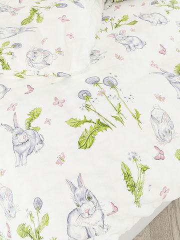 Простынь на резинке  -Кролики- натяжная 140х200х26 см 2-спальная