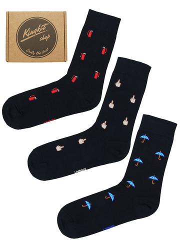 Набор Черных носков 3-74