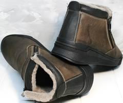 Зимние ботинки мужские с мехом Rifellini Rovigo 046 Brown Black