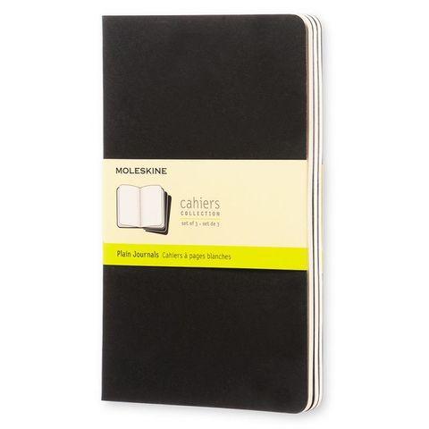 Блокнот Moleskine CAHIER JOURNAL QP318 Large 130х210мм обложка картон 80стр. нелинованный черный (3шт)
