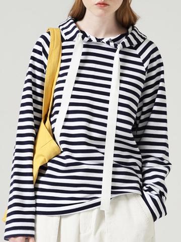 Купить Худи в морском стиле (синяя полоса) в Магазине тельняшек