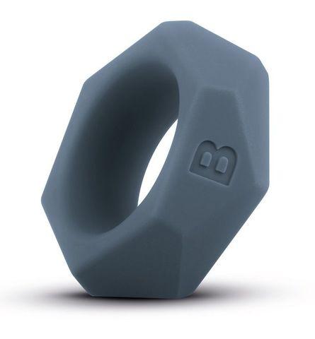 Темно-серое эрекционное кольцо в виде гайки