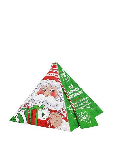 Новогодний чай глинтвейн в пирамидках Дед мороз