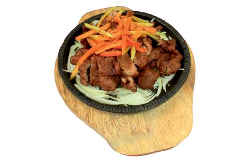 8--18Свинина шейка на сковороде铁板猪颈肉655р400гр