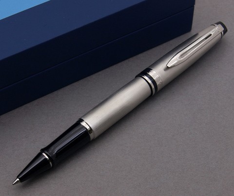 Ручка-роллер Waterman Expert 3, цвет: Stainless Steel CT, стержень: Fblk123