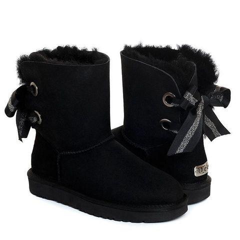 UGG Bailey Bow Customizable Black
