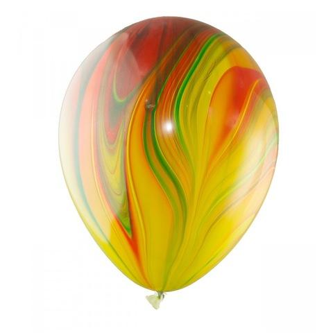 Шары супер агат, разноцветные, 30 см