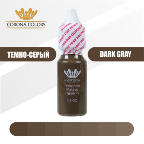 Пигмент Corona Colors Темно-Серый (Dark Gray) 15 мл