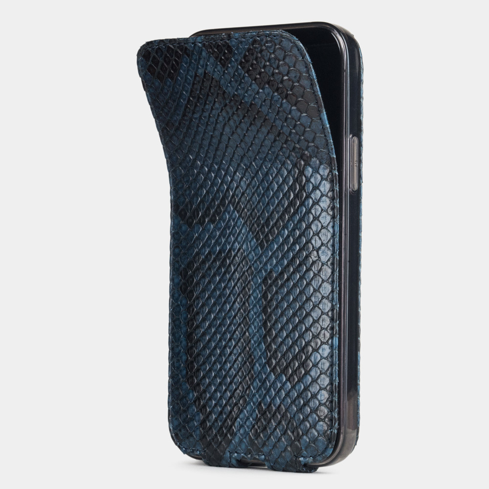 Case for iPhone 12 & 12 Pro - python blue