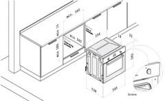 Схема установки Korting OKB 481 CRB
