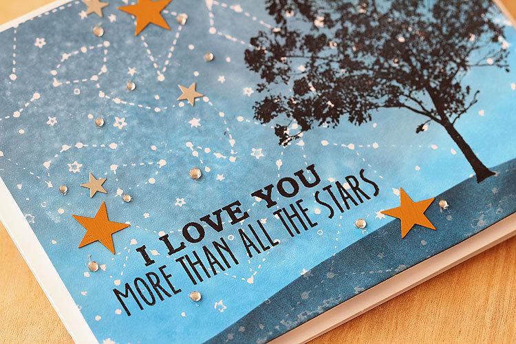 Штамп  Constellation Background