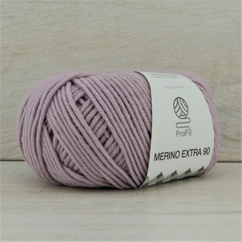 Пряжа Merino Extra 90 (Мерино экстра 90) Бледно-сиреневый