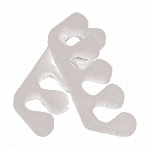 Разделители для пальцев 8 мм. пенопропилен 20 пар/упк белый