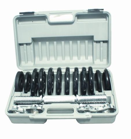 Набор разборных крашеных  гантелей 2 по 6,5 кг в кейсе DSN25P (37696)