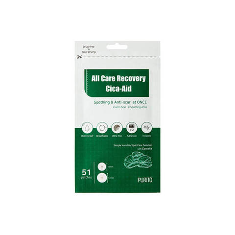 PURITO  Патчи для проблемной кожи PURITO All Care Recovery Cica-Aid 51шт