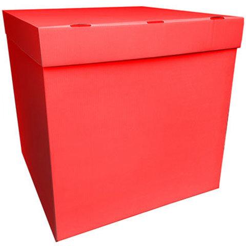 Коробка для надутых шариков красная