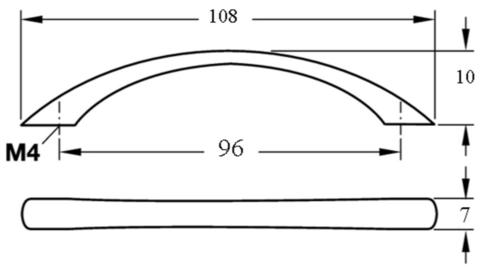Ручка мебельная 8211 Chrome 128мм (код 9266) EDSON