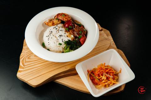 Бенто рис с говядиной