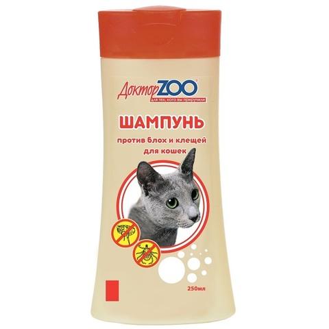 Шампунь Доктор Зоо для кошек от блох 250 мл