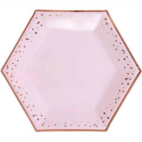 Тарелки большие Гламур Pink & RoseGold