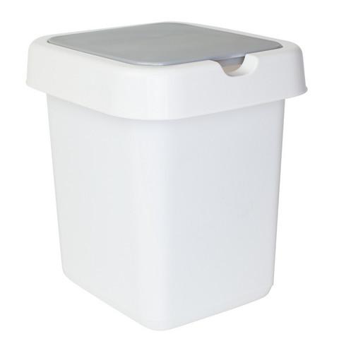 Контейнер для мусора Квадра белый 25 л