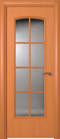 Дверь ДО 153 (ольха, остекленная ламинированная), фабрика Краснодеревщик