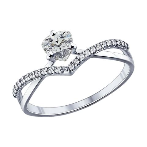 94011750 - Кольцо из серебра с фианитами