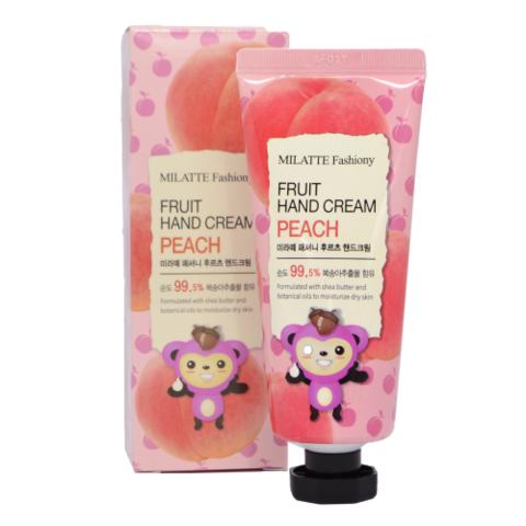 Milatte Fashiony Fruit Hand Cream Peach крем для рук с экстрактом персика
